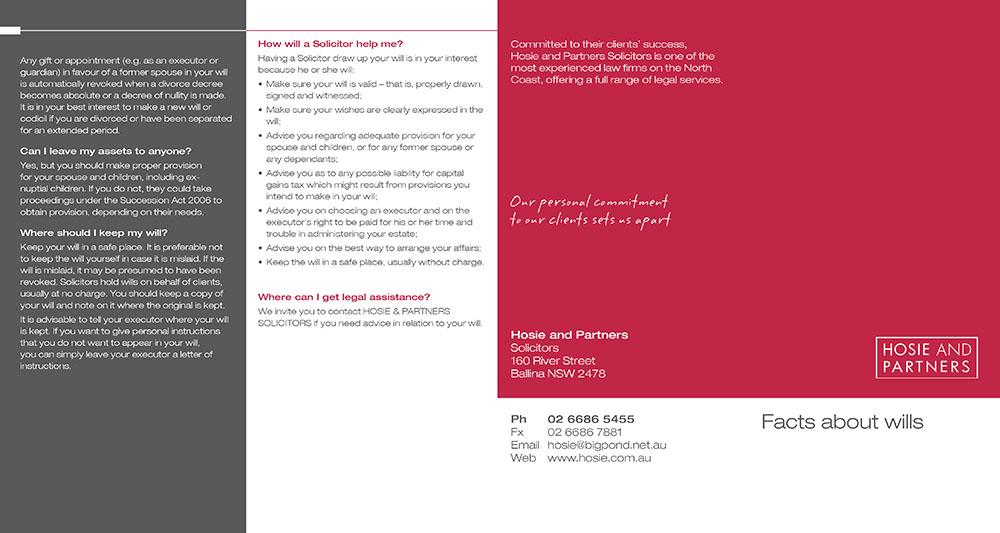 Hosie & Partners DL flyer