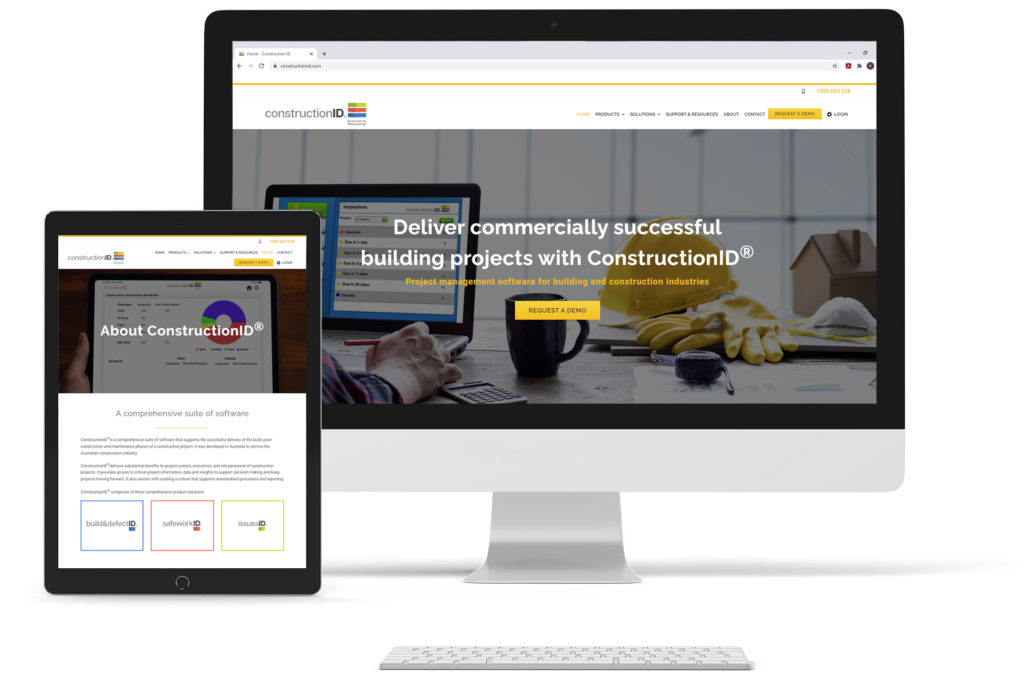 ConstructionID website screenshot