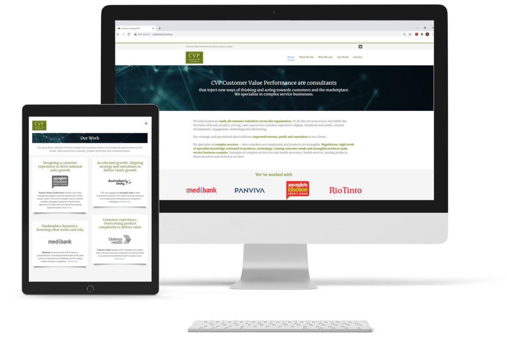 CustomerVP website screenshot
