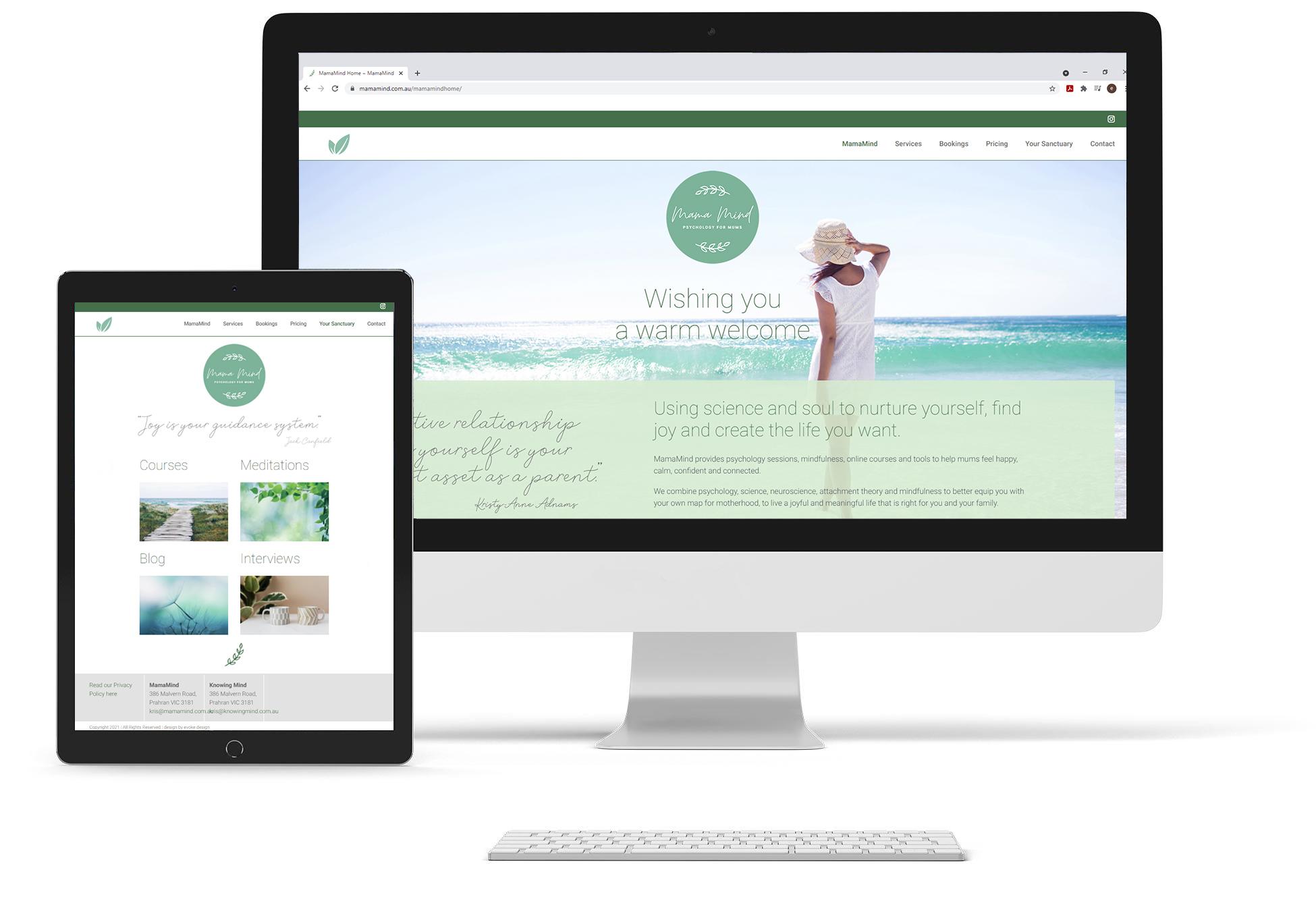 MamaMind website screenshot